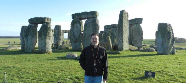 Me standing on a walking tour of Stonehenge, Jan 2012